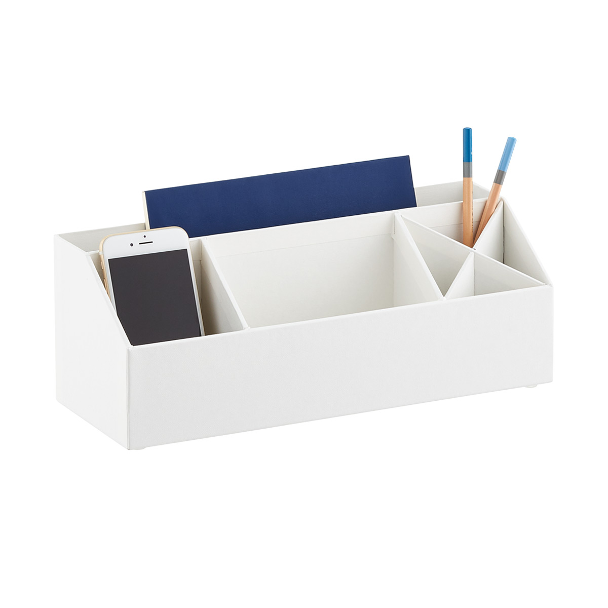 Bigso White Stockholm Desk Accessory Organizer