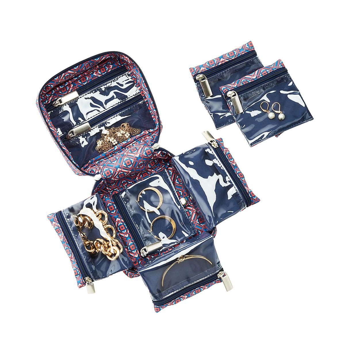 in.bag Blue Tile Travel Jewelry Organizer