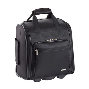 Travelon 2-Wheeled Black Rolling Tote