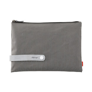 Large Black & White Stripe City Clutch & Travel Organizer