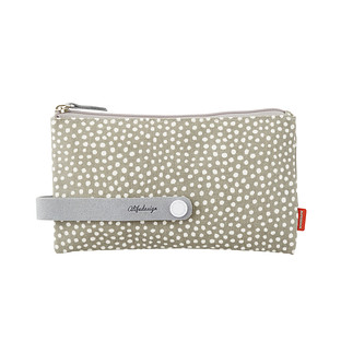Medium Grey Dots City Clutch & Travel Organizer