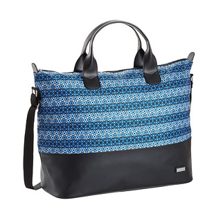 Hadaki Blue & Black Grid Hampton Tote
