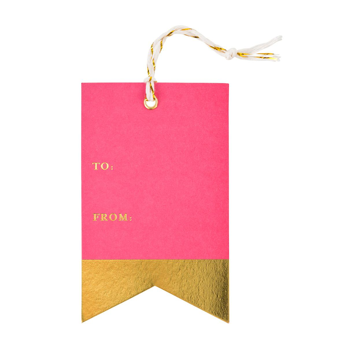 Pink & Gold Banner Gift Tags