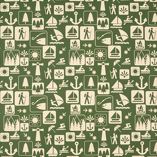 Olive Great Outdoors Wrapping Paper