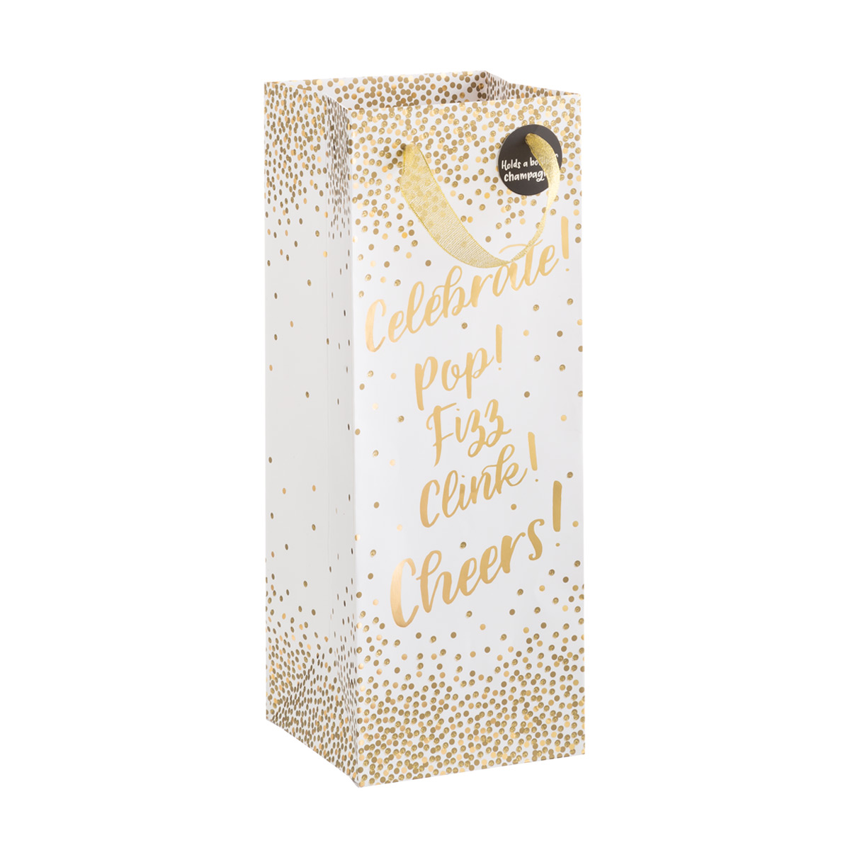 Golden Sparkle Bottle Tote