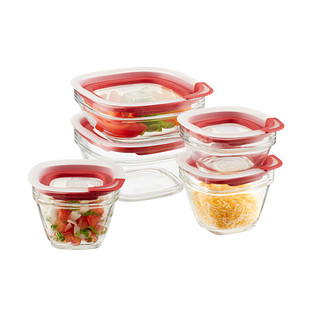 Rubbermaid Glass Jars with Easy Find Lids