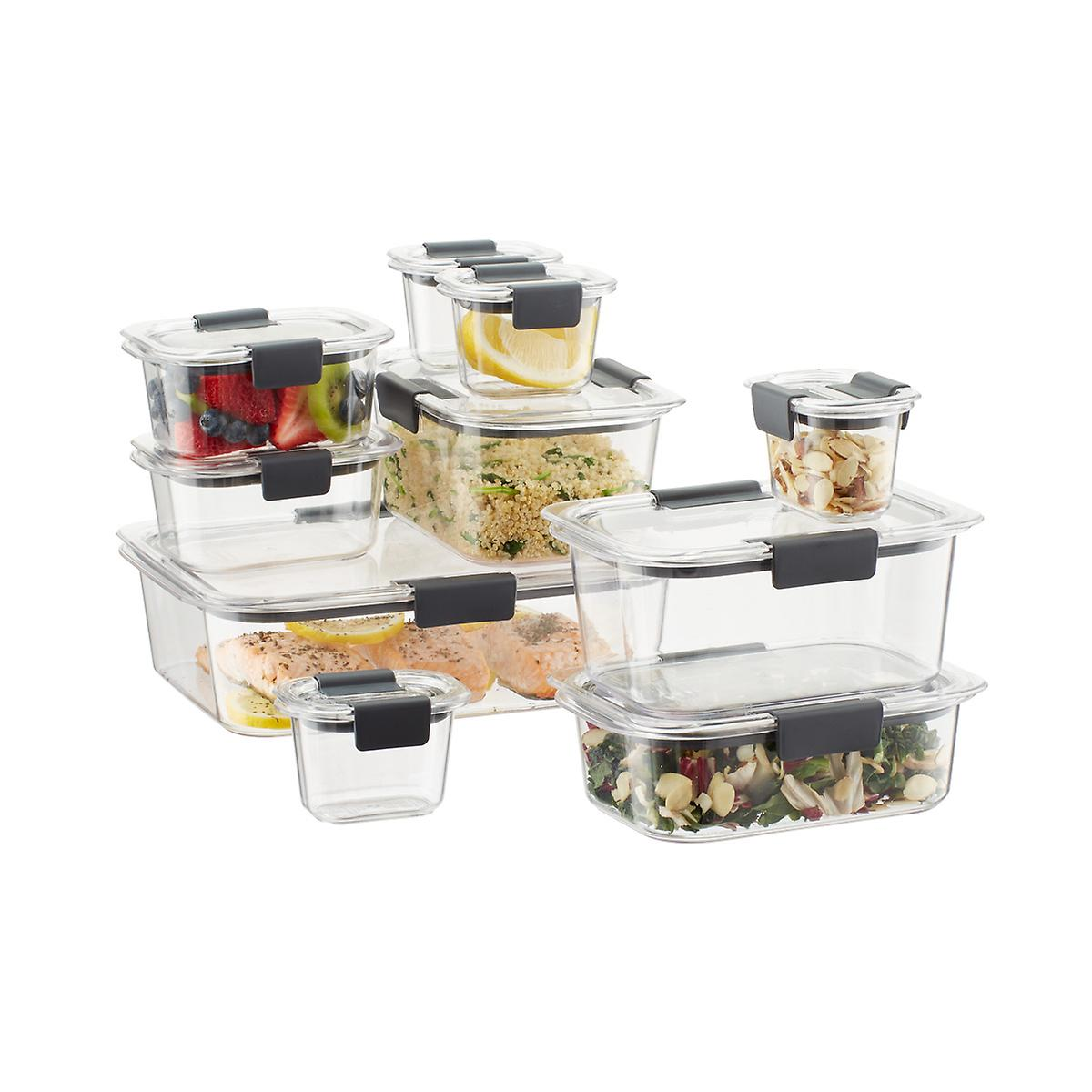 rubbermaid brilliance food storage containers set of 20. Black Bedroom Furniture Sets. Home Design Ideas
