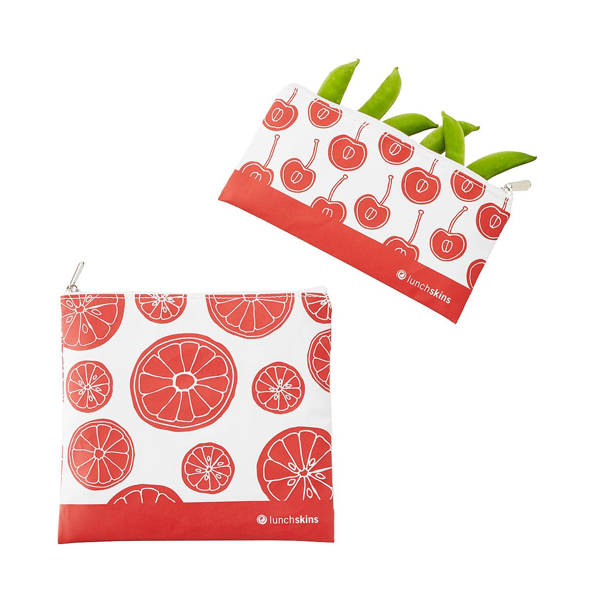lunchskins Red Fruit Zippered Bag Set