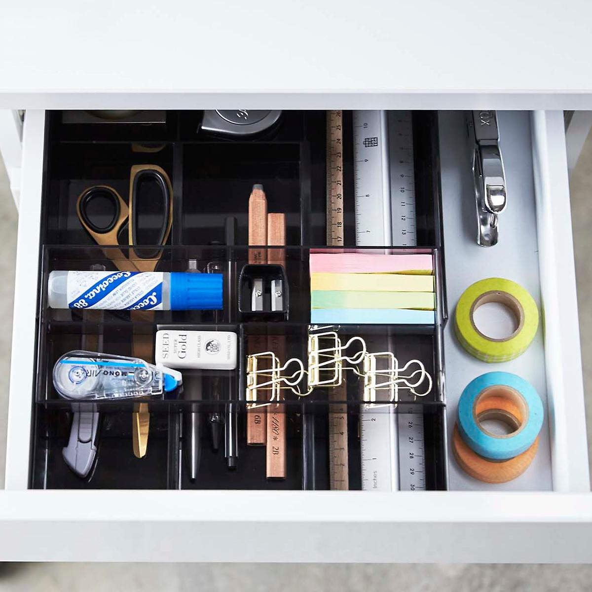 Black Expandable Drawer Organizer