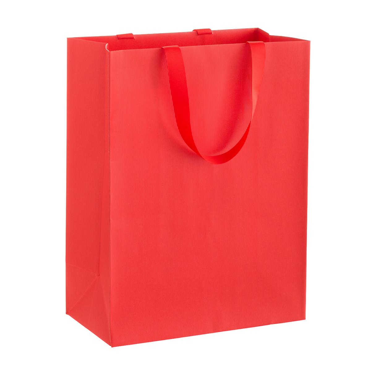 Solid Red Large Gift Bag
