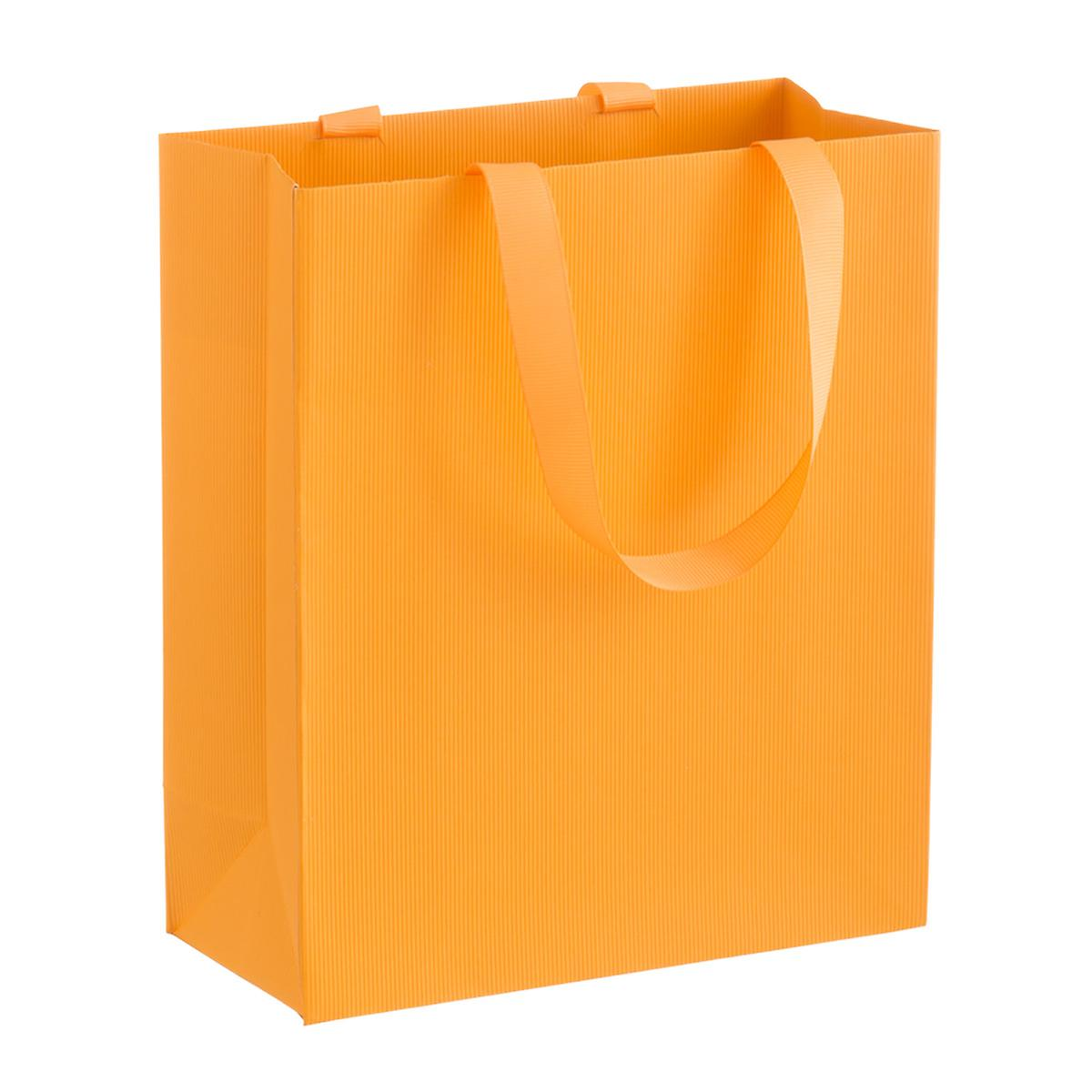 Solid Orange Small Gift Bag