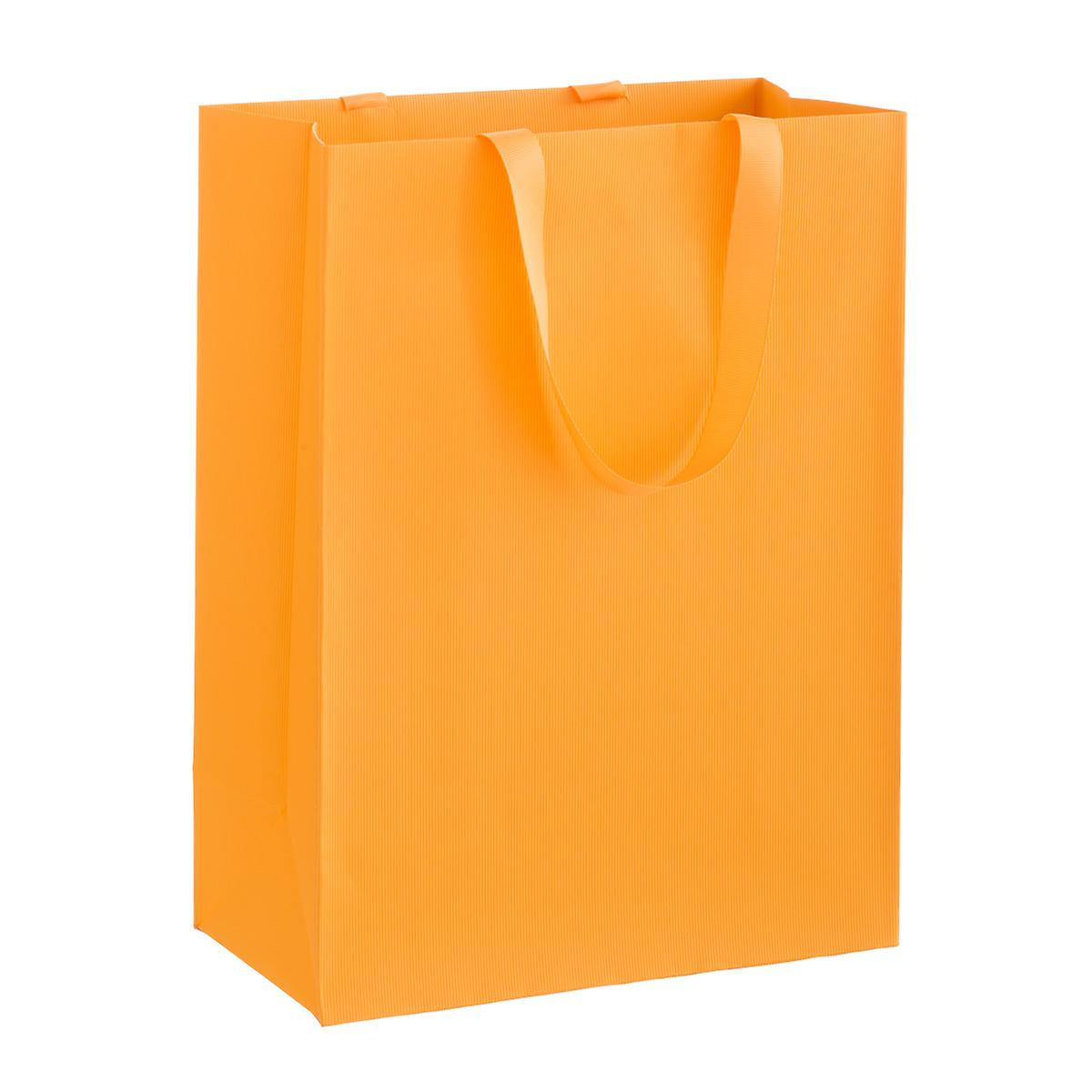 Solid Orange Large Gift Bag