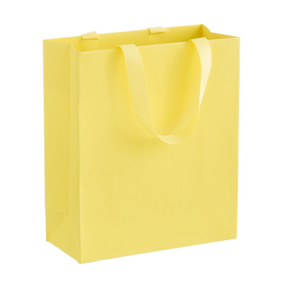 Solid Yellow Small Gift Bag