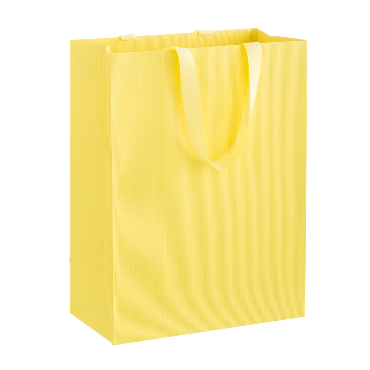 Solid Yellow Large Gift Bag