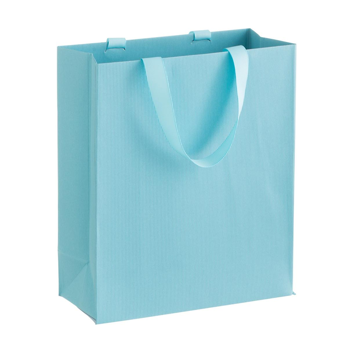 Solid Aqua Small Gift Bag