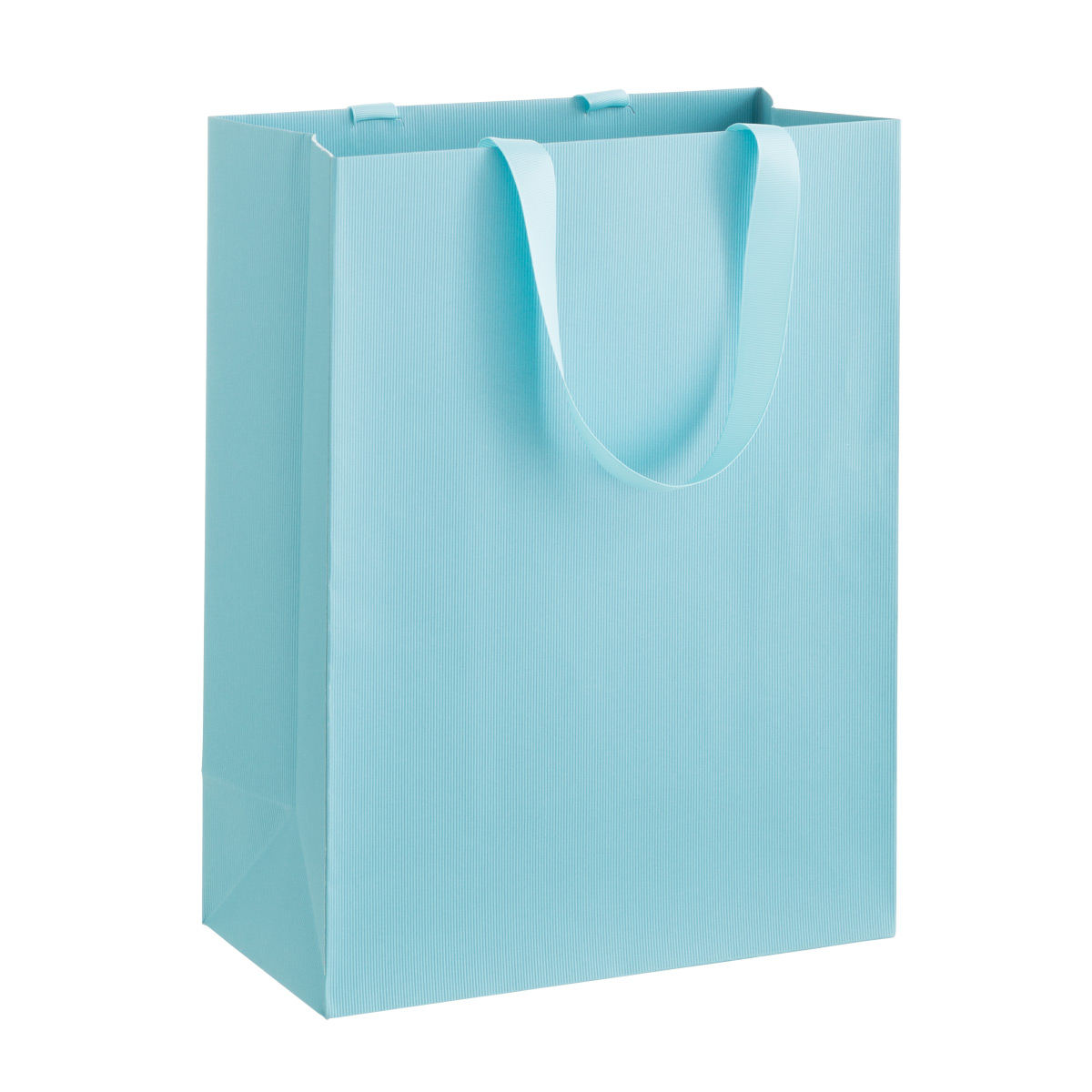 Solid Aqua Large Gift Bag