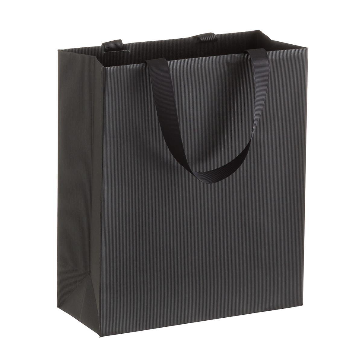 Solid Black Small Gift Bag