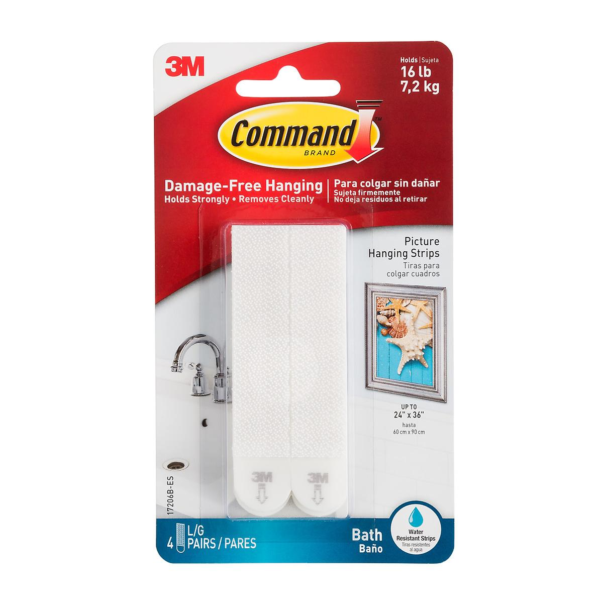 3M Command Bath Picture Hanging Strips