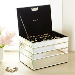 Stackers 4-Piece Mirrored Jewelry Box