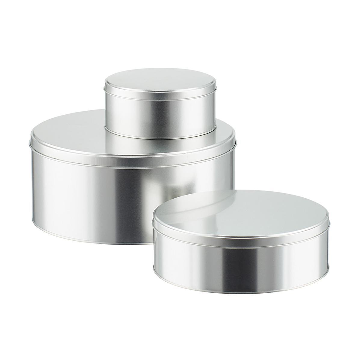 Silver Round Tins