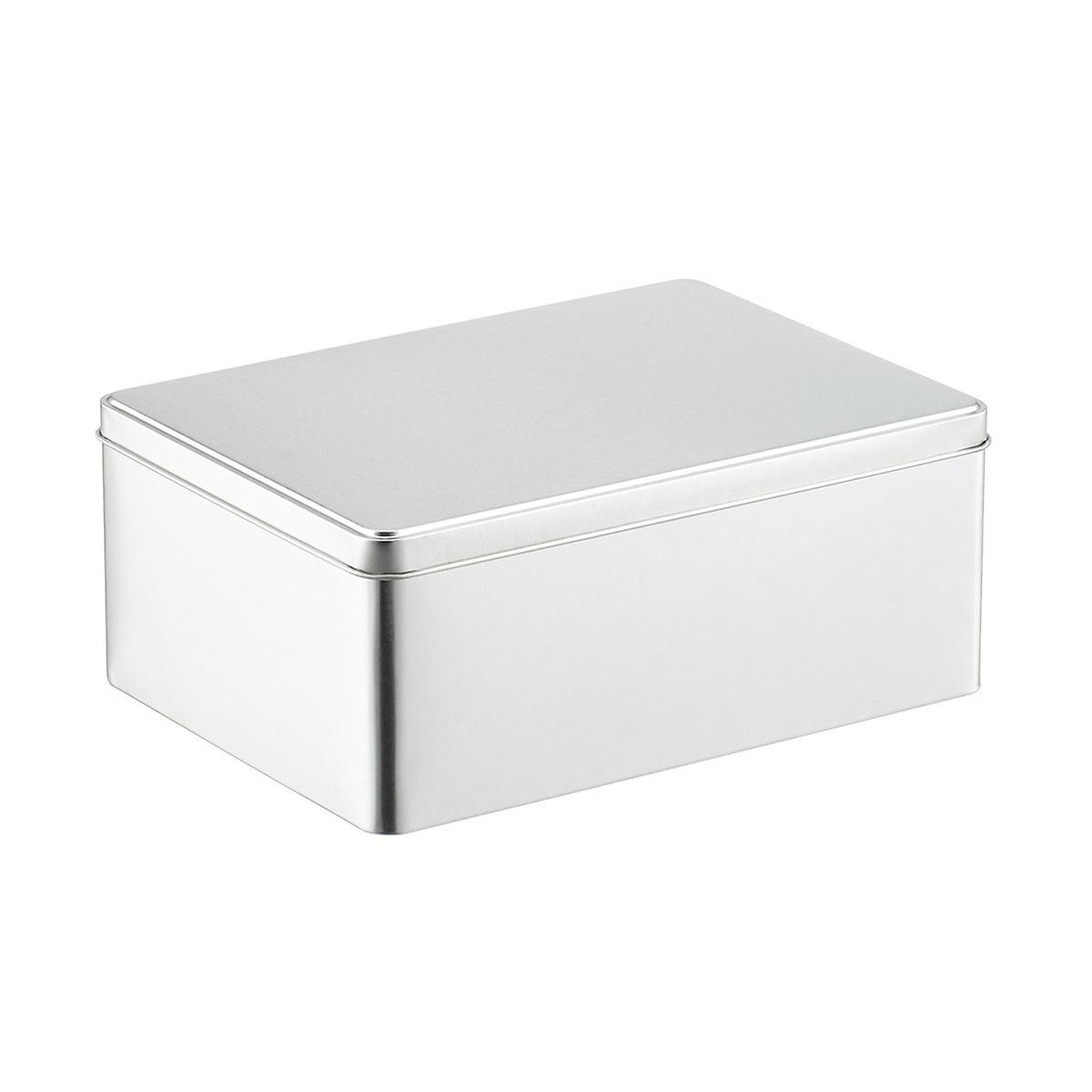 Silver Rectangular Tin