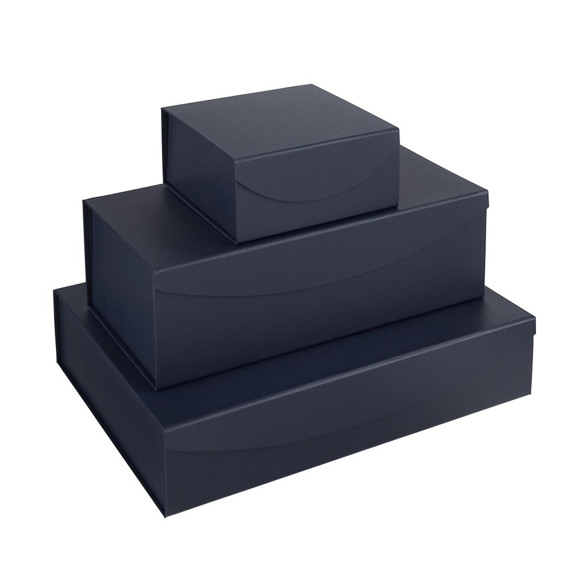 Navy Leatherette Collapsible Gift Boxes