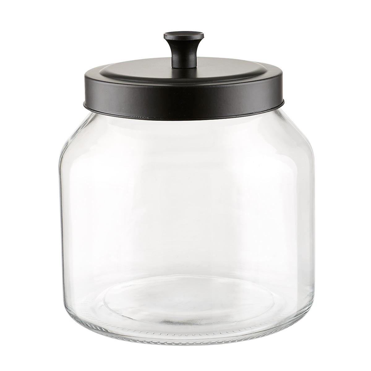 Glass Canisters With Matte Black Lids The Container Store