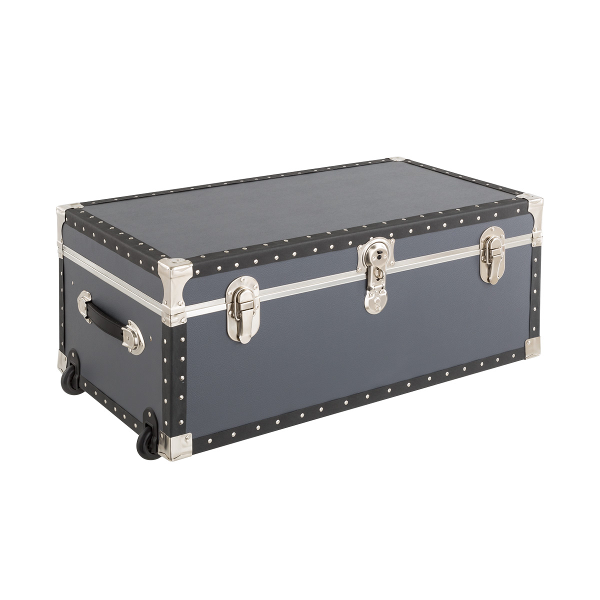 Grey Rolling Trunk with