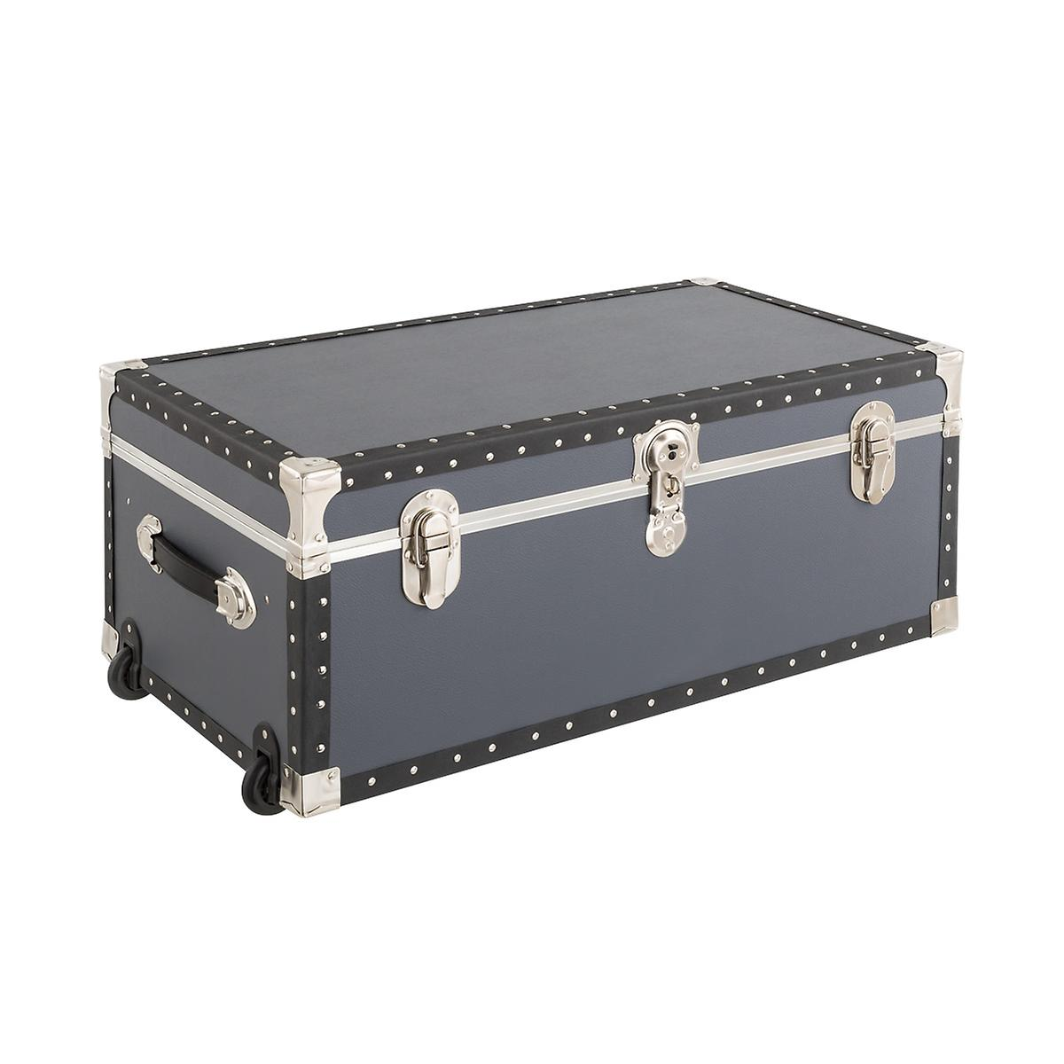 Grey Rolling Trunk with Tray