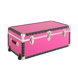 Pink Rolling Trunk with Tray