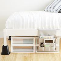 Bed Risers Underbed Storage For Dorms College The Container Store