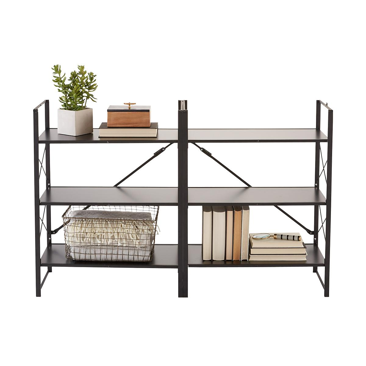 Origami Black 3-Tier Flip Shelf | The Container Store - photo#50