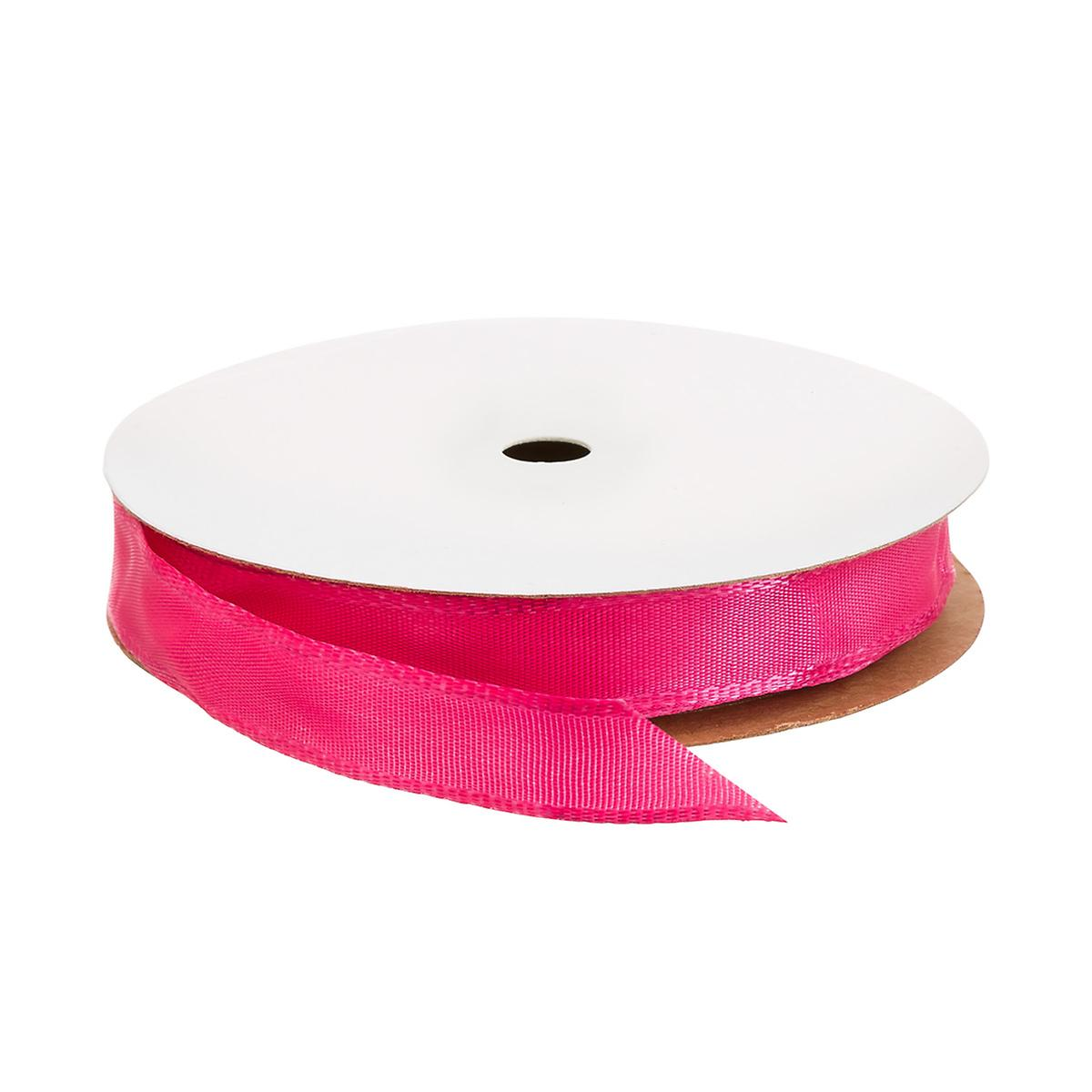 "5/8"" Bright Pink Wired Ribbon"