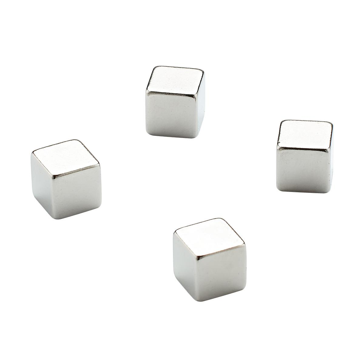 Three by Three Stainless Steel Large Mighties Magnet Cubes