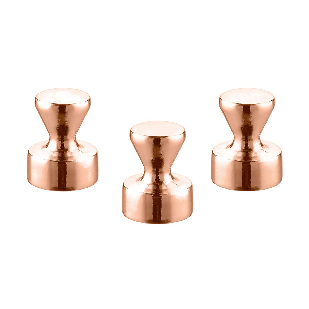 Three by Three Large Copper Knob Magnets