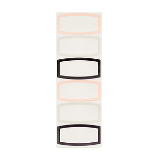 Bright Dry Erase Labels