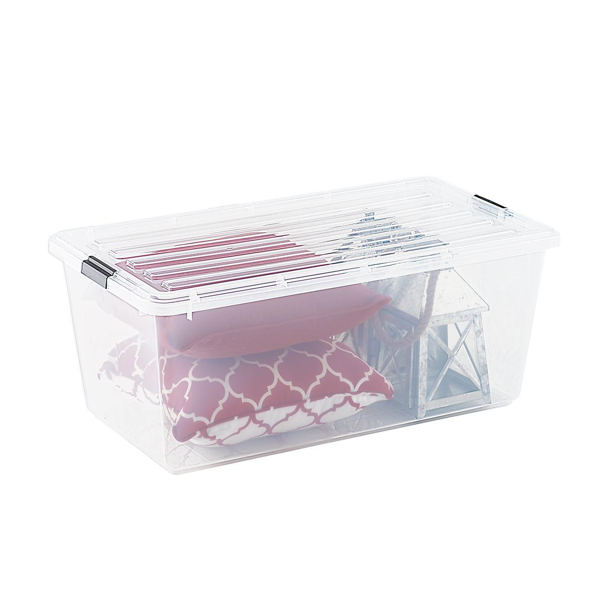 Iris 22.75 gal. Clear Tote with Locking Lid