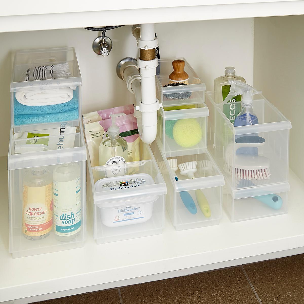Stackable Under Sink Organization Starter Kit