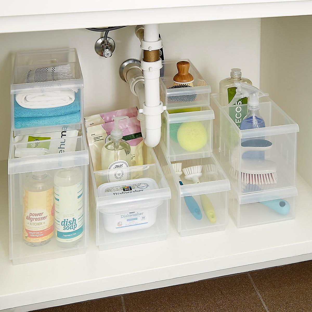 Stackable Under Sink Organization Starter Kit