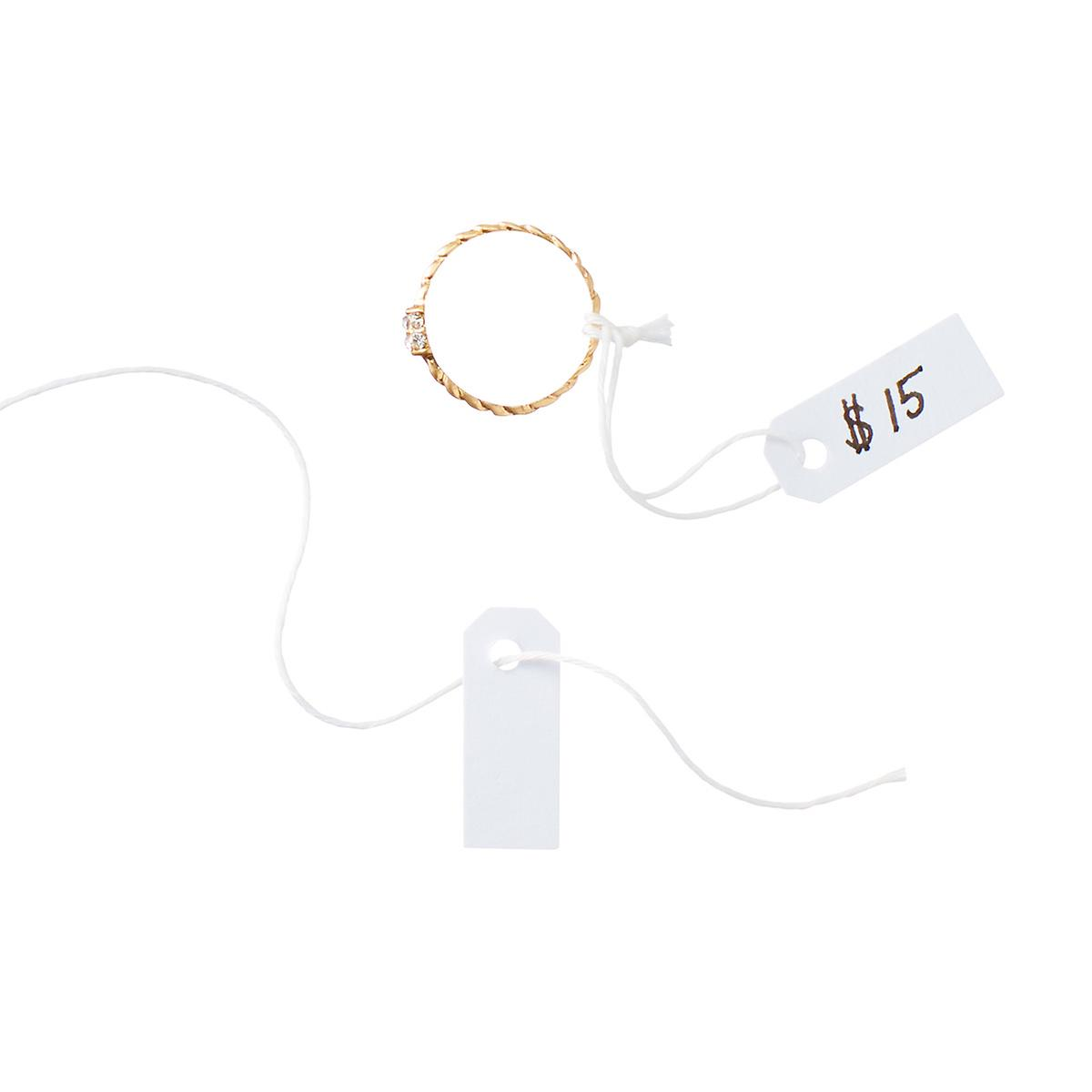 U-Brands Jewelry Tags with Cotton Twine