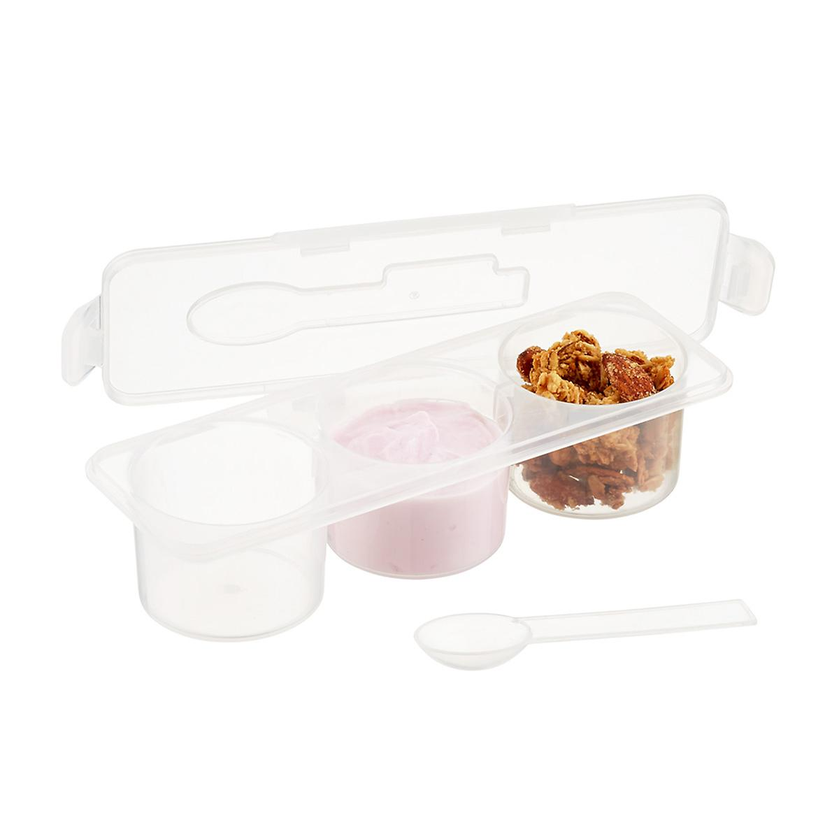 3-Section Snack Container