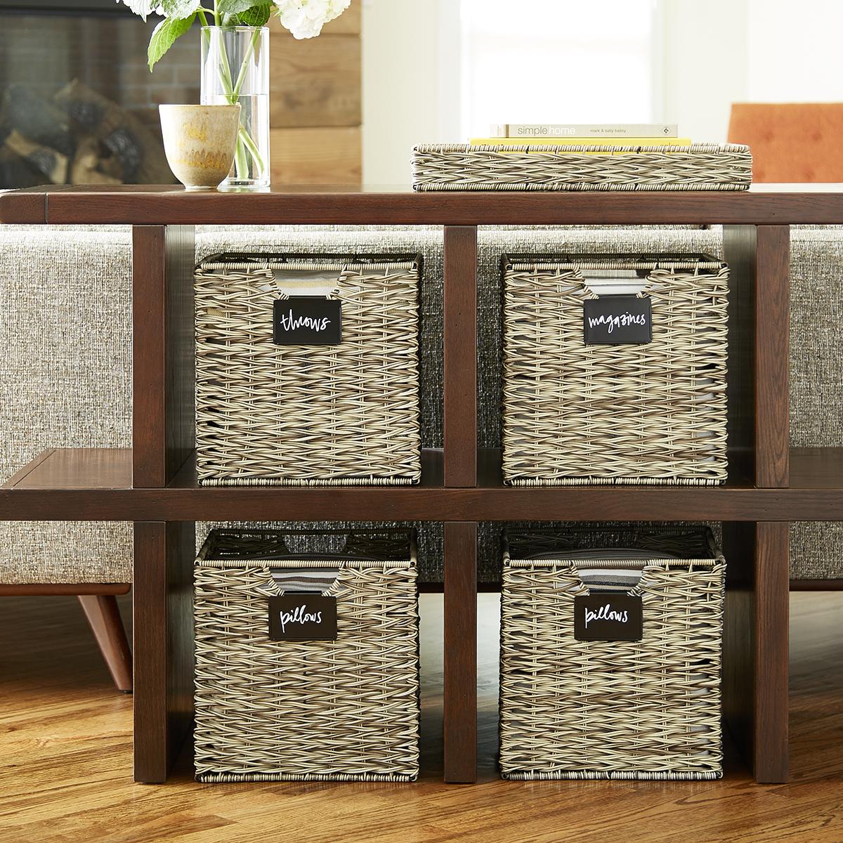 Merveilleux Ashcraft Storage Cubes With Handles