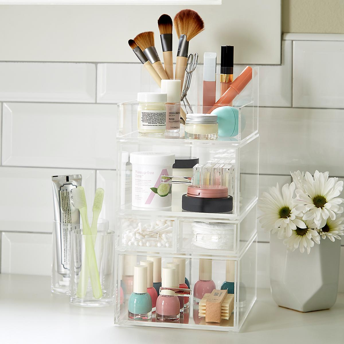 Luxe Acrylic Tall Makeup Storage Starter Kit