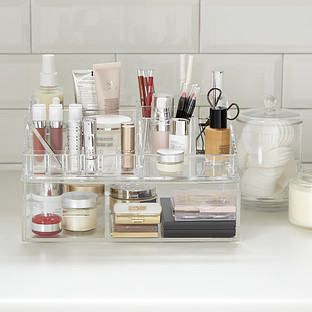 Luxe Acrylic Makeup Organizer Storage Kit The Container