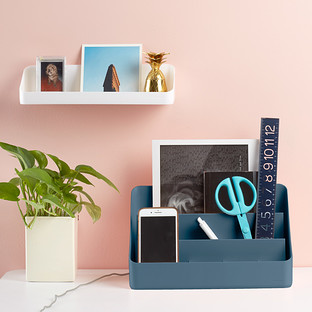 Slate Blue Poppin All-in-One Desktop Organizer