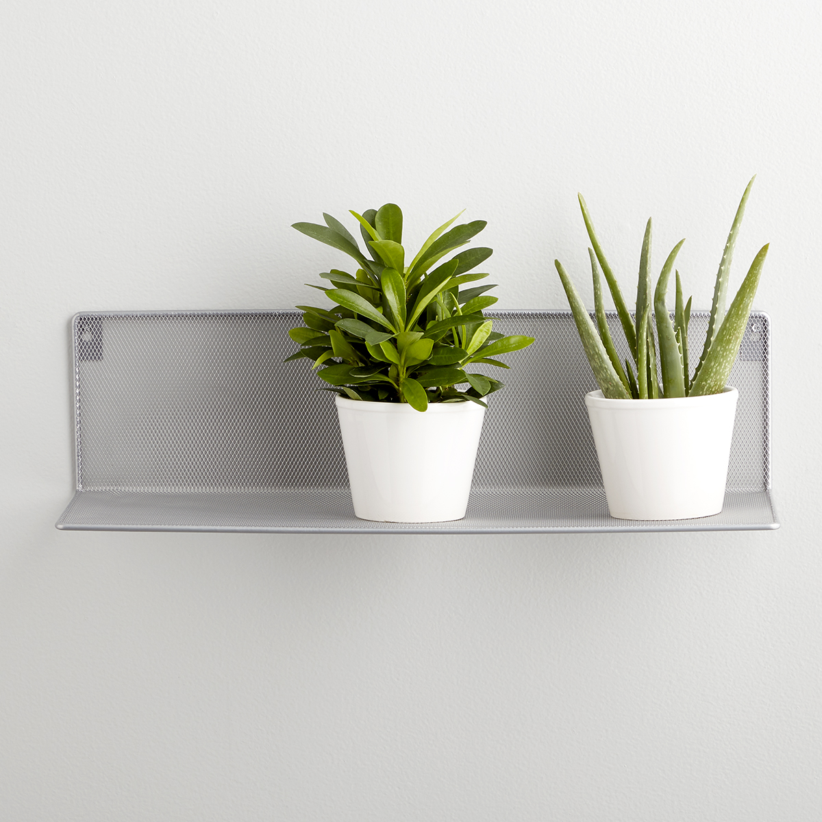 Silver Mesh Wall Shelf