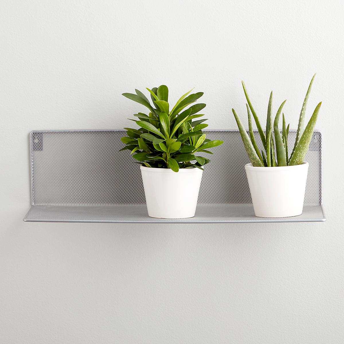 Silver Mesh Wall-Mounted Shelf