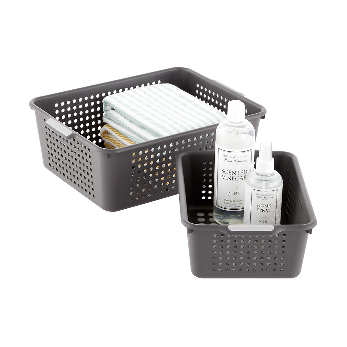 madesmart Charcoal Storage Baskets