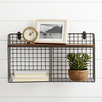 Wall-Mounted Wire Double Bin