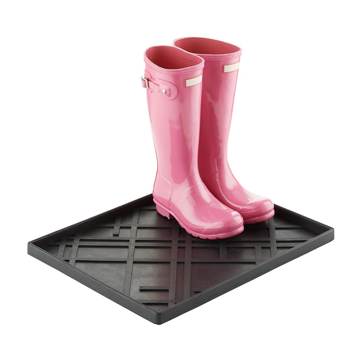 Medium Black Lines Shoe & Boot Tray